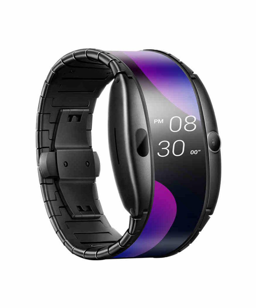 Nubia Bluetooth Smart Watch Water-proof, 4.0HD Screen, 1GB+8GB, Foldable Flexible Screen